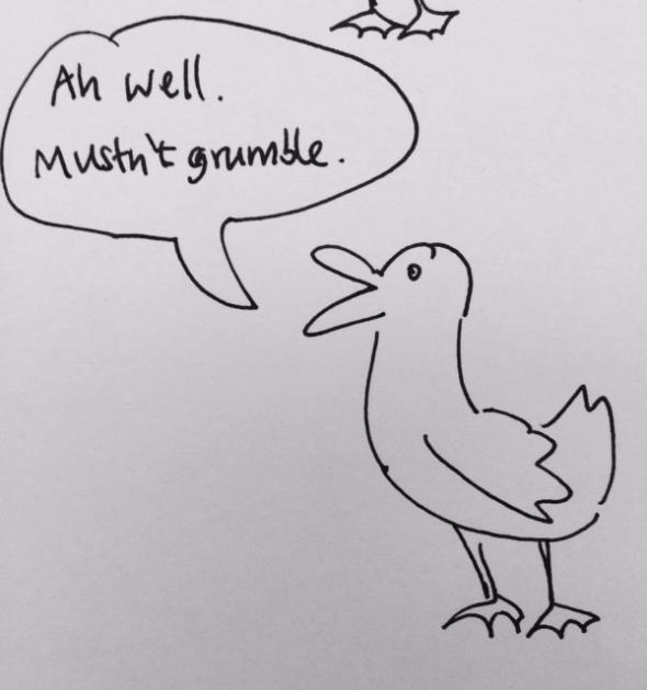duck-billed platitude