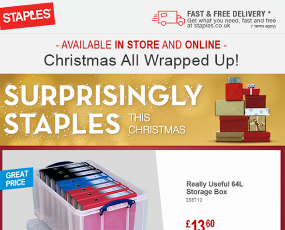 staples wrapped up
